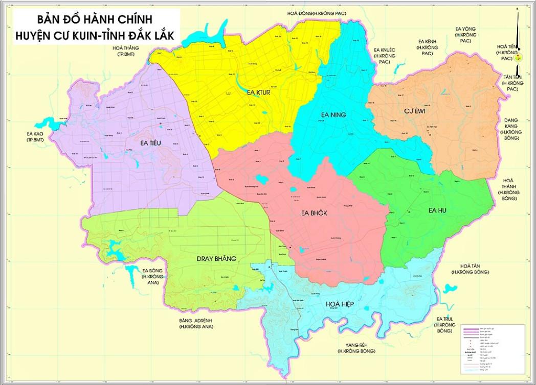 Bản đồ đơn vị hành chính Cư Kuin