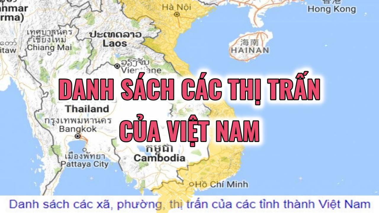 danh sách các thị trấn của Việt Nam