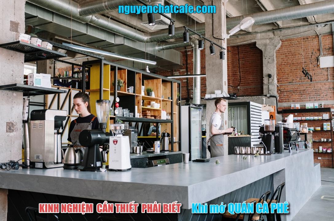 những thứ cần thiết cho một quán cà phê